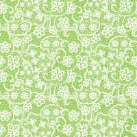 Lunch Servietten Flowers Lace lime