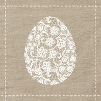 Serviettes lunch Flowers Egg