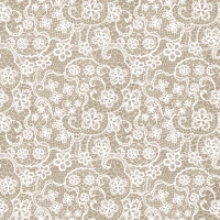 Lunch Servietten Flowers Lace taupe