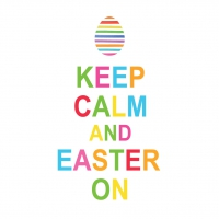 Lunch Servietten Keep Calm Easter