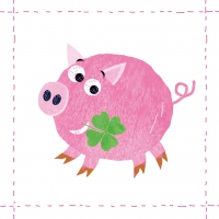 Lunch napkins Lucky Piggy