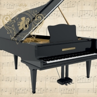 Serviettes lunch Concerto Piano