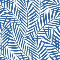 Serviettes lunch Palm Leaves indigo