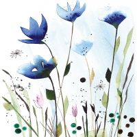 Lunch napkins Aquarell Cornflowers