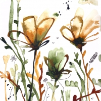 Servilletas Lunch Aquarell Sunrise Flowers