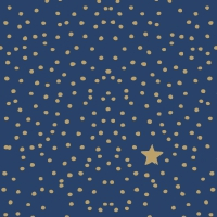 Serviettes lunch The Star Money dark blue