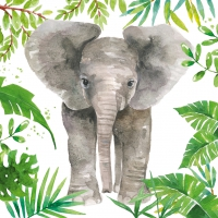 Serviettes lunch Tropical Elephant