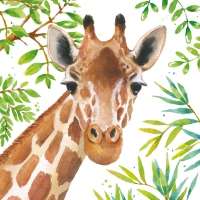 Lunch napkins Tropical Giraffe