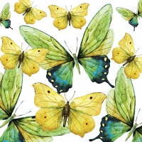 Lunch napkins Green Butterflies
