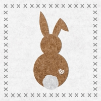 Serviettes lunch Bunny felt