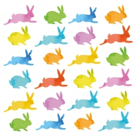 Serviettes lunch Aquarell Bunnies