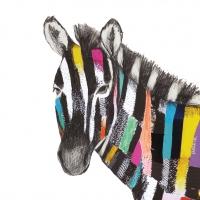 Servilletas Lunch Regalia Zebra
