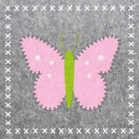 Lunch napkins Butterfly Felt