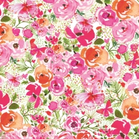 Serviettes lunch Rose Floral