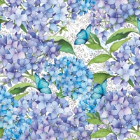 Serviettes lunch Blue Floral