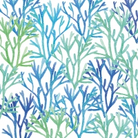 Lunch napkins Aquarell Corals