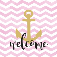 Napkins 33x33 cm - Welcome Anchor