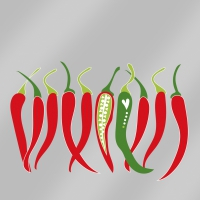 Servietten 33x33 cm - Chillies