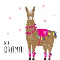 Lunch napkins Drama Llama