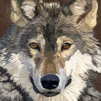 Lunch napkins Sauvage Wolf
