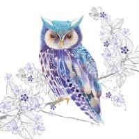 Lunch Servietten Blue Owl