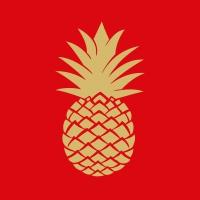 Lunch Servietten Golden Pineapple