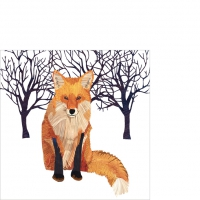 Cocktail napkins Winter Fox