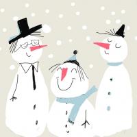 Cocktail Servietten Smiling Snowmen