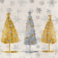 Serviettes cocktail  Holiday Trees
