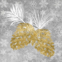Cocktail napkins Holiday Pinecones