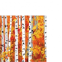 Serviettes de table 25x25 cm - Bosquet d´automne