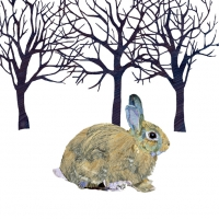 Lunch napkins Winter Rabbit