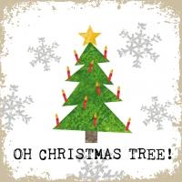 Servilletas 33x33 cm - Oh Árbol de Navidad!