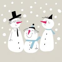 Lunch Servietten Smiling Snowmen