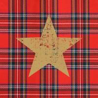 Lunch Servietten Tartan Star red