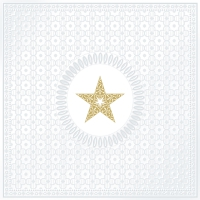 Lunch Servietten Medaillon Star pearl