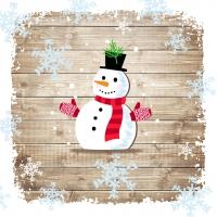Lunch Servietten Snowman with Gloves