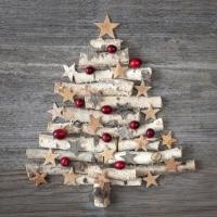 Lunch Servietten Wood Ornament Tree