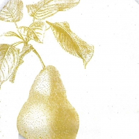 Lunch napkins Engraved Pear
