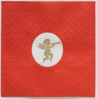 Lunch napkins Medaillon Angel red