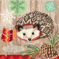 Lunch napkins Hedgehog with Scarf