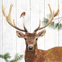 Lunch Servietten Robin & Deer