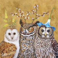 Serviettes lunch Owl Family