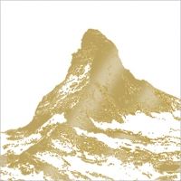 Serviettes lunch Matterhorn gold