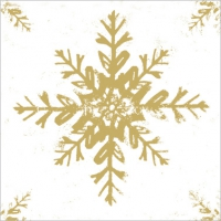 Lunch napkins Ice white/gold