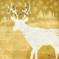 Lunch napkins Woodland Deer gold