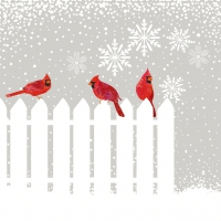 Lunch napkins Snowfall Cardinals