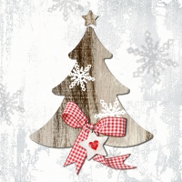 Lunch napkins Country Xmas Tree 1
