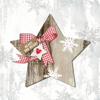 Lunch napkins Country Xmas Star 1