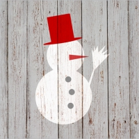 Lunch napkins Snowman on Wood